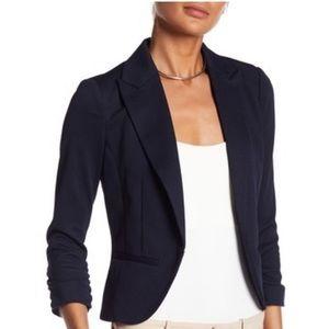 💙Notch Lapel 3/4 Sleeve Pique Knit Blazer